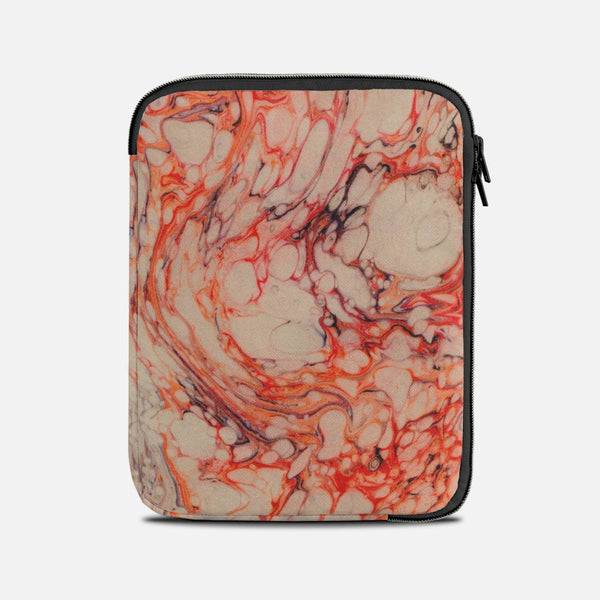 Red marble Tablet Sleeves