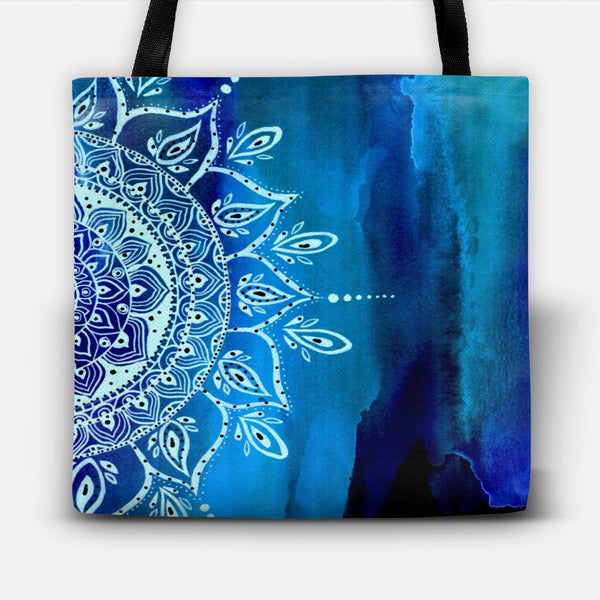 At Night Mandala Tote Bag