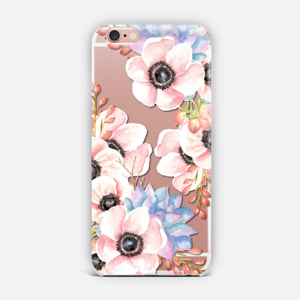 Flowers and succulents iPhone Case