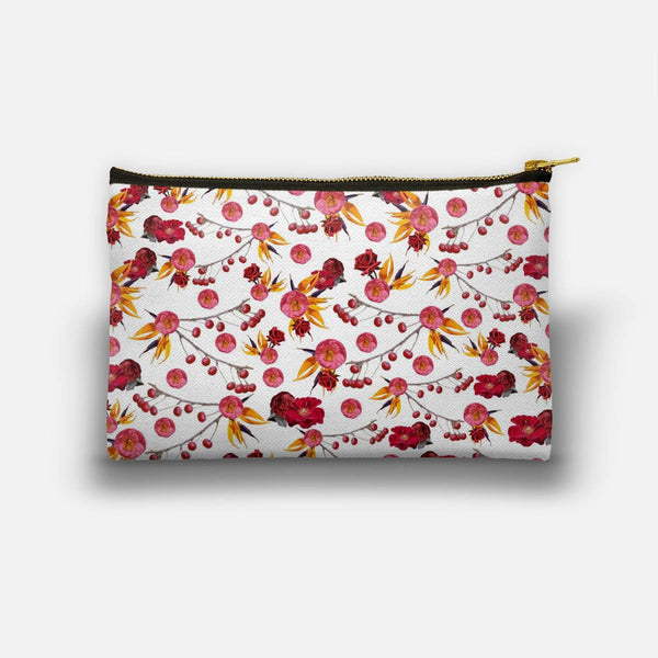 Bright Red Nature  Studio Pouch