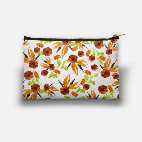 Orange Poppy Star Studio Pouch
