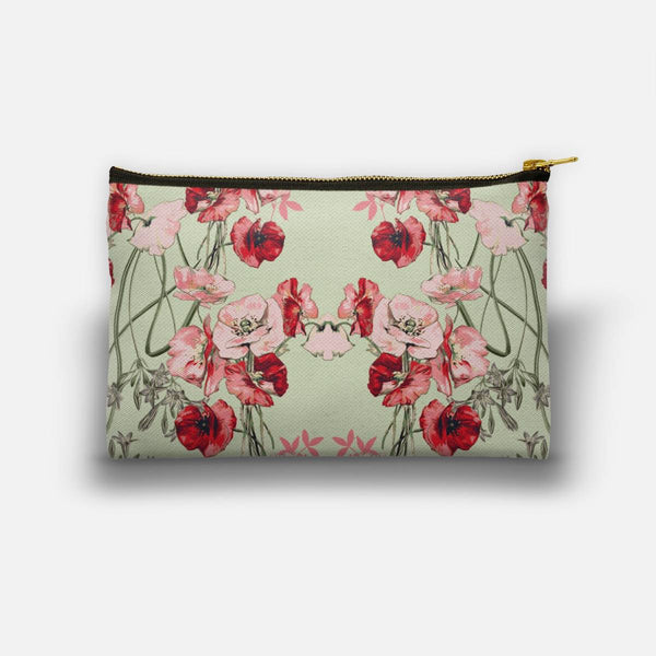 Dramatic Florals (Red) Studio Pouch