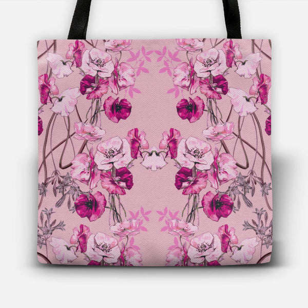 Dramatic Florals (Pink) Tote Bag