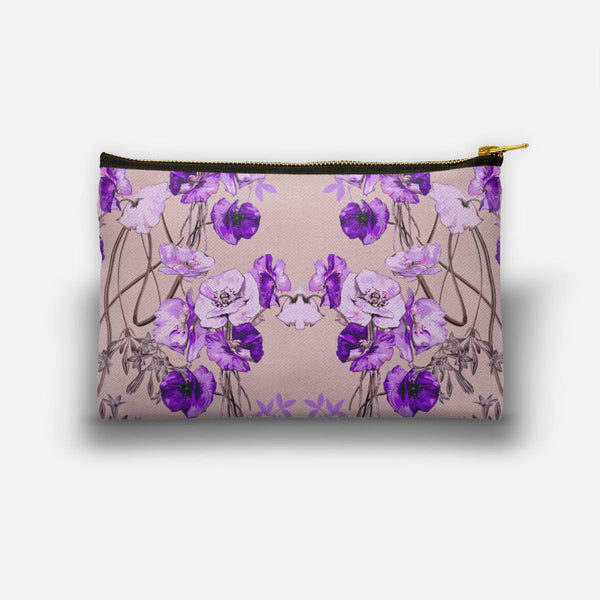 Dramatic Florals (Purple) Studio Pouch