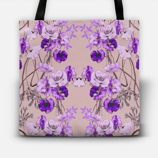 Dramatic Florals (Purple) Tote Bag