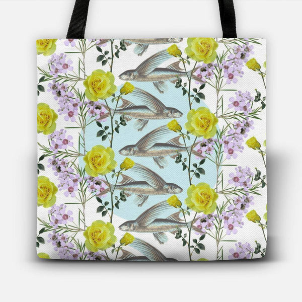 Floral Fishies Tote Bag