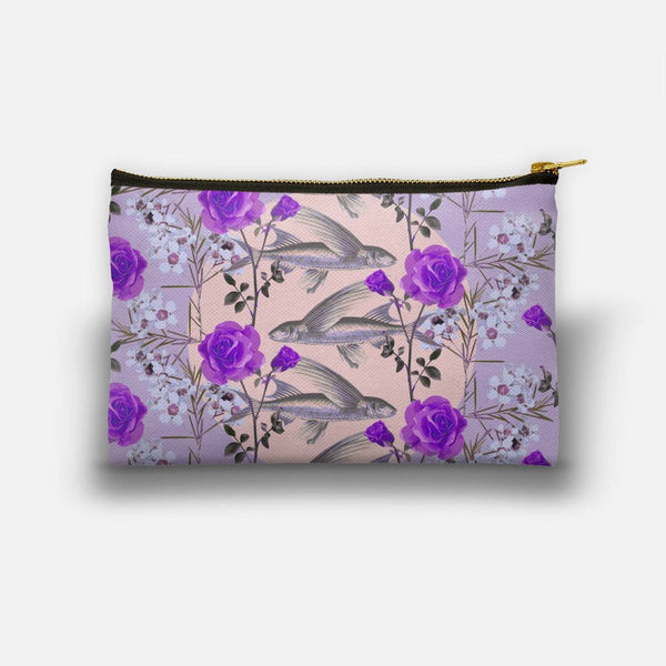 Floral Fishies (Purple) Studio Pouch