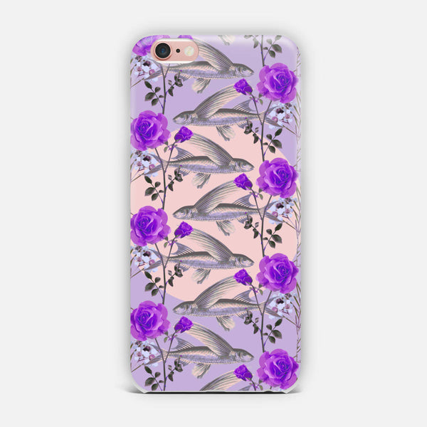 Floral Fishies (Purple) iPhone Case