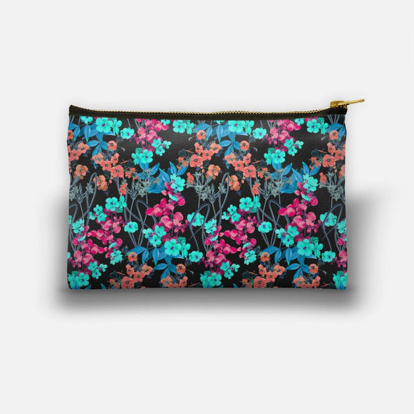Flower Power (Black) Studio Pouch