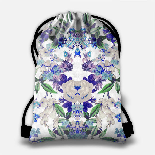 Floral Mingle Drawstring Bag