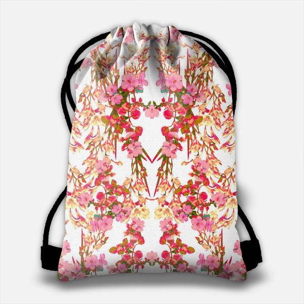 Floral Decor Drawstring Bag