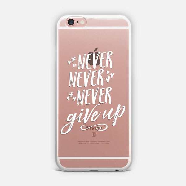 Never Give Up (White) designed by Noonday Design