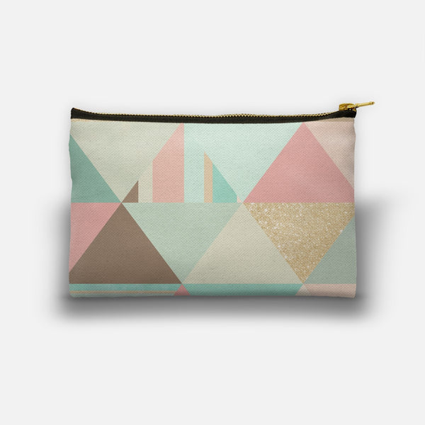 Peach, Mint & Gold Triangles designed by Noonday Design