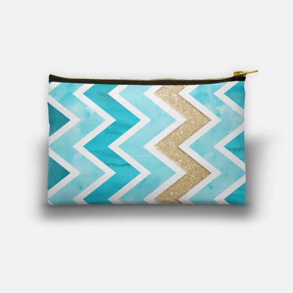 Teal & Gold Chevron designed by Noonday Design
