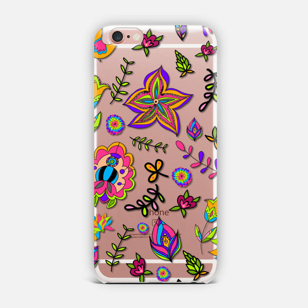 Cartoon flowers. iPhone Case