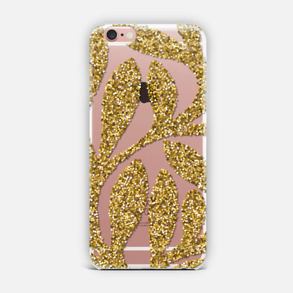 Gold leaves. iPhone Case