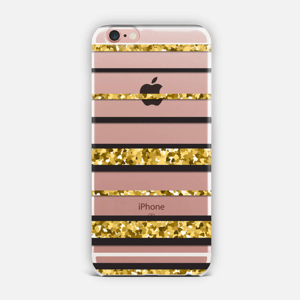 Gold stripes. iPhone Case
