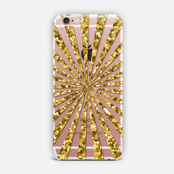 Golden rays. iPhone Case
