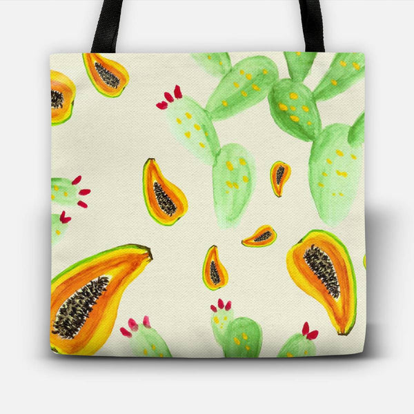 Cactus and fruits watercolor Tote Bag