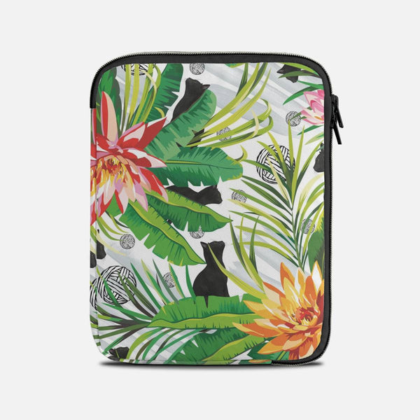 Cats among lotus flowers Tablet Sleeves