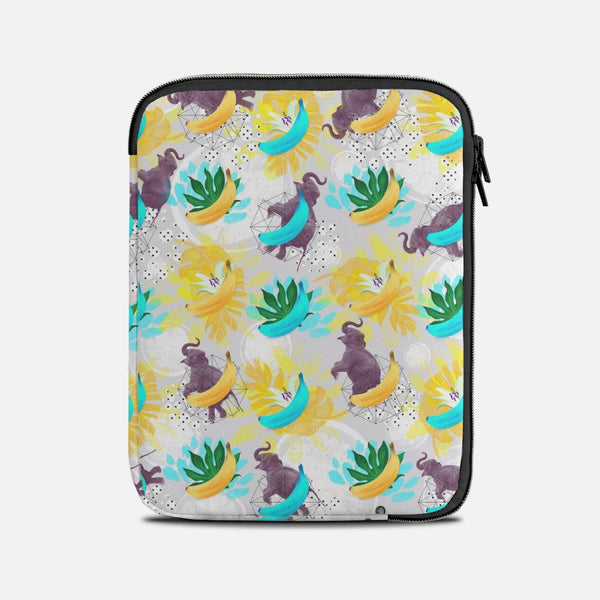 Elephants between fruits and plants Tablet Sleeves