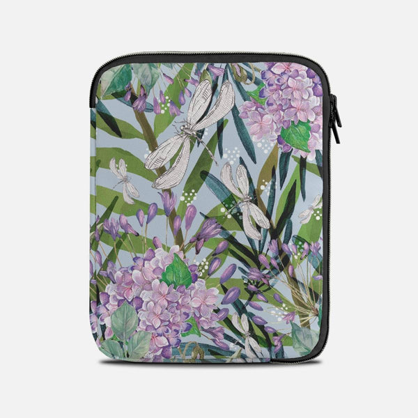 Floral collage and dragonflies Tablet Sleeves