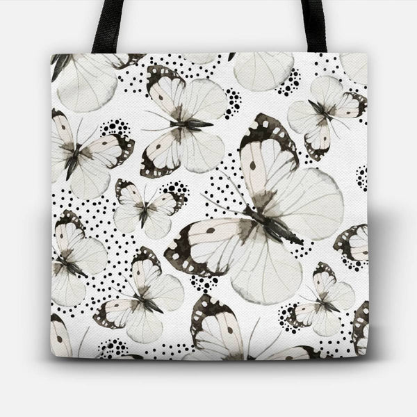 White butterflies Tote Bag