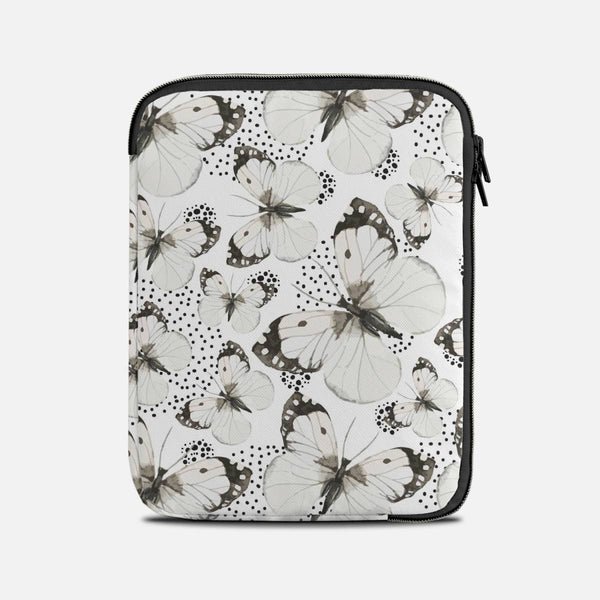 White butterflies Tablet Sleeves