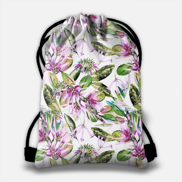 Nature abstract floral Drawstring Bag
