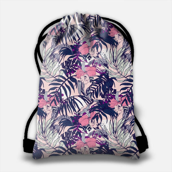 winter in the jungle Drawstring Bag