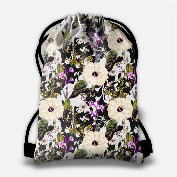 Flowery abstract garden  Drawstring Bag