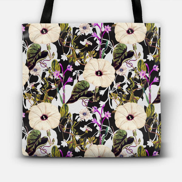 Flowery abstract garden  Tote Bag