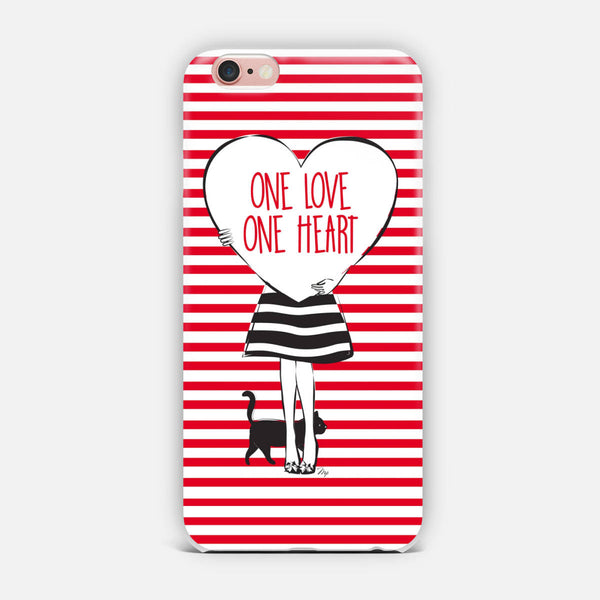 One love one heart iPhone Case