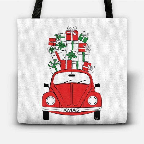 Christmas Car Tote Bag