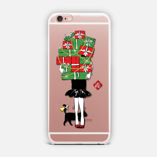 Girl with gifts iPhone Case