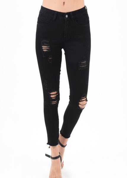 High Road Distressed Denim