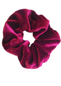 Velvet Scrunchie - Cranberry