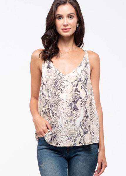 Always Alright Snake Top - Khaki
