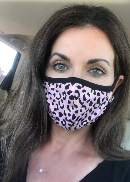 Face Mask - Blossom Leopard