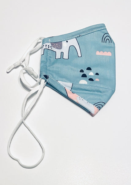 Kids Mask - Elephants & Butterflies