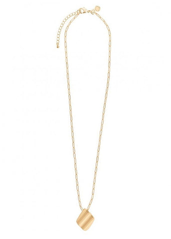 Amara Gold Ripple Necklace