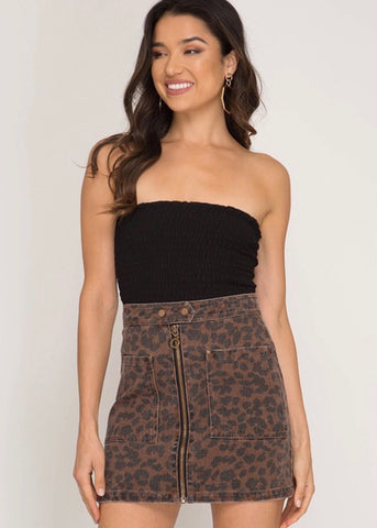 Mind Games Leopard Skirt