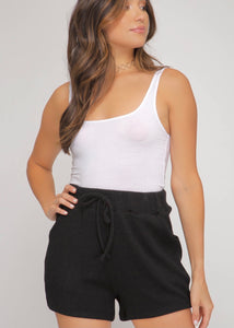Feeling Fine Knit Shorts - Black