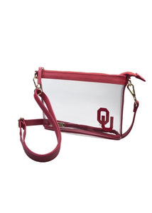 OU Clear Small Crossbody Stadium Handbag