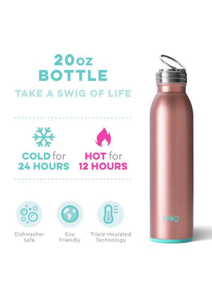 Swig: Shimmer Rose Gold Bottle (20oz)