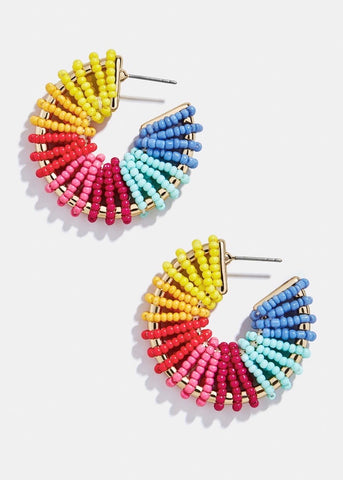 Multi Color Seed Bead Earrings