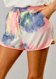 Candy Crush Tie Dye Shorts