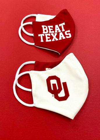 OU/Beat Texas Reversible Mask