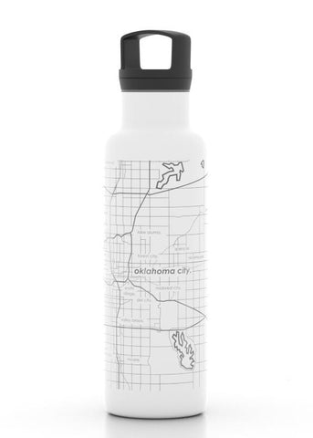 Oklahoma City Map Insulated Hydration Bottle