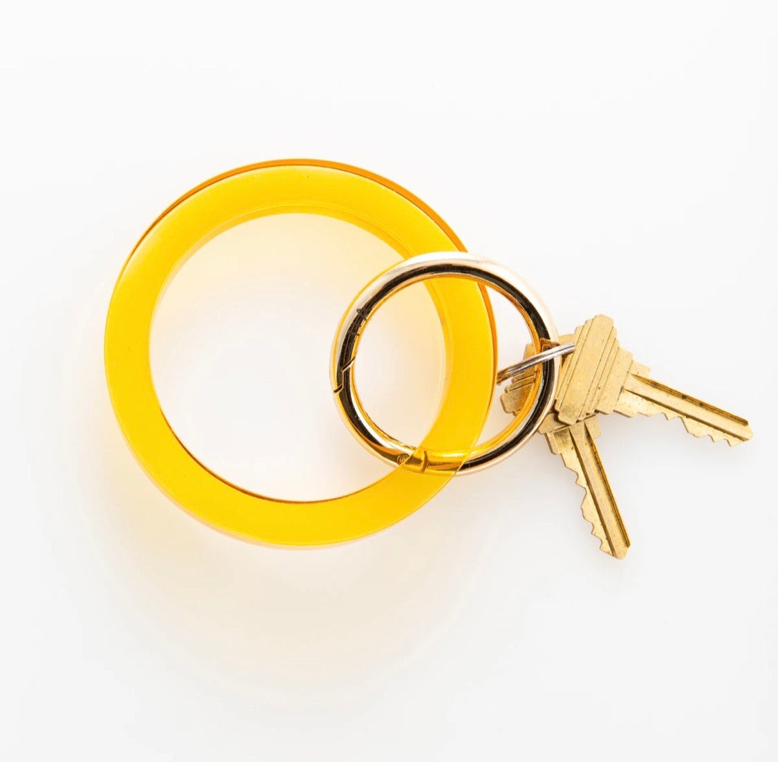 Ink+Alloy: Amber Lucite Key Ring